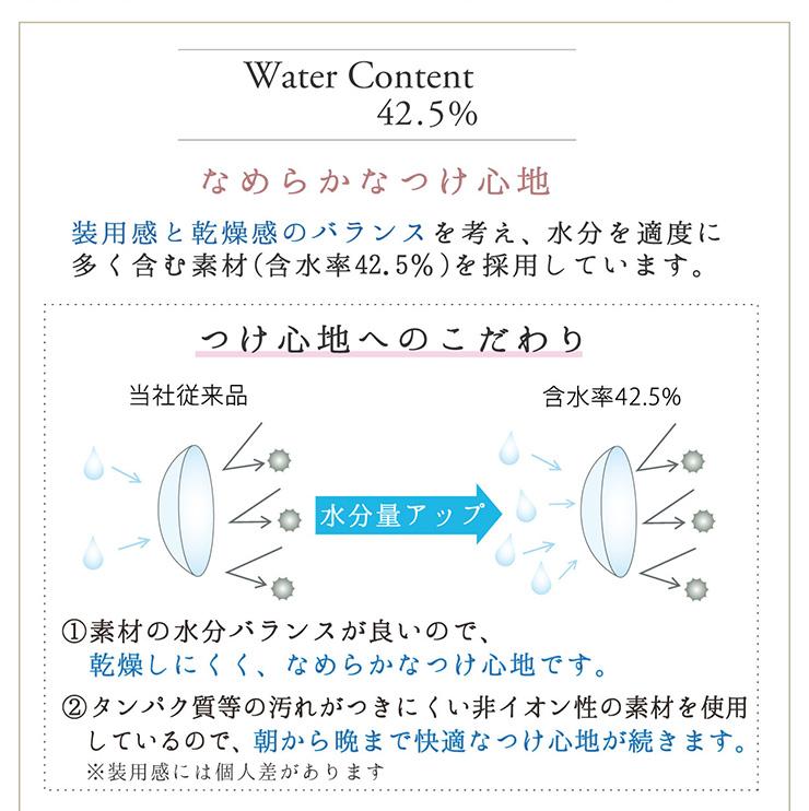 Water Content42.5% なめらかなつけ心地