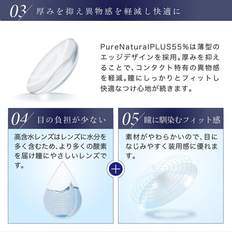 Pure Natural PLUS55%は薄型のエッジデザインを採用。